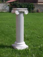 Foto 2 Stein-Brunnen mit Löwenkopf, Sandstein-weiß, Höhe 120 cm