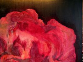 Stephanie Schönfeld: Blüte, Acryl/Mischtechnik
