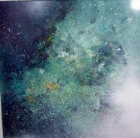 Stephanie Schönfeld: Spacenight, Acryl/Mischtechnik