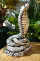 Sterling Silber 999 gestempelt erstaunliche Königskobra Schlange Statue eines Königs