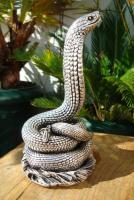 Foto 2 Sterling Silber 999 gestempelt erstaunliche Königskobra Schlange Statue eines Königs