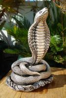 Foto 3 Sterling Silber 999 gestempelt erstaunliche Königskobra Schlange Statue eines Königs