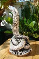 Foto 9 Sterling Silber 999 gestempelt erstaunliche Königskobra Schlange Statue eines Königs