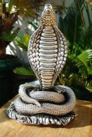 Foto 10 Sterling Silber 999 gestempelt erstaunliche Königskobra Schlange Statue eines Königs