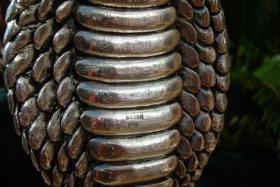 Foto 11 Sterling Silber 999 gestempelt erstaunliche Königskobra Schlange Statue eines Königs