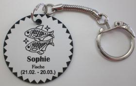Foto 12 Sternzeichen - Schlüsselanhänger mit Wunschnamen