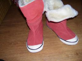 Foto 2 Stiefel von TOM TAILOR 37 orange -LEDER NEU! +TASCHE