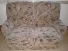 Stilvolle und hochwertige Coachgarnitur,2-Sitzer und 3 Sessel