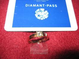 Foto 2 Strahlend schöner Brilliant Ring 750 Gold,  Brilliant 0,40 Karat