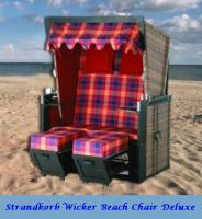 Strandkorb Neu ''Wicker Beach Chair'' Deluxe incl. Plane