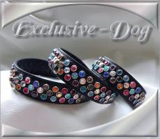 Foto 2 Strasshalsbänder Lederhalsband Yorkshire-Terrier Malteser Shih Tzu Hundehalsband mit SWAROVSKI ELEMENTS