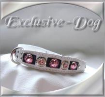 Foto 2 Strasshalsbänder Malteser Shih Tzu Lederhalsband Hundehalsband mit SWAROVSKI ELEMENTS Unikat by EXCLUSIVE-DOG