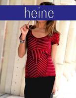 Streifen-Patchworkshirt rot-bordeaux - heine - Gr. 36 - Neu & OVP