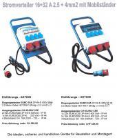 Stromverteiler 16+32A- 230+400Volt für Bau + Montage