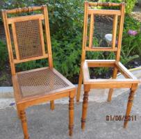 Stühle, Rattan, Antikstuhl