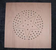 Stuhlsitzplatten mit Sternmuster zum selbst resaurieren
