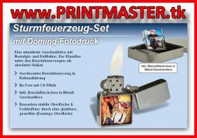 Sturmfeuerzeug-Set mit Ihrem Foto in 3D-Effekt