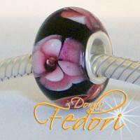 Style Bead Black Floret