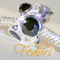 Style Bead Black Pride 925 Sterling Silber, Zirkonia