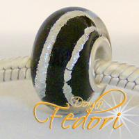 Style Bead Black Silver Line
