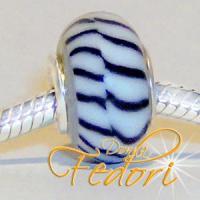 Style Bead Black Stripes