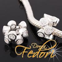 Style Bead Da Blanca 925 Sterling Silber, Zirkonia