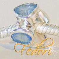 Style Bead Blaue Lagune 925 Sterling Silber, Zirkonia