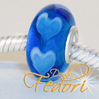 Style Bead Blue Hearts