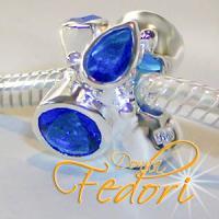 Style Bead Blue Pride 925 Sterling Silber, Zirkonia