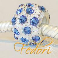 Style Bead Blue Snow 925 Sterling Silber, Zirkonia