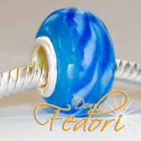Style Bead Blue Swirl