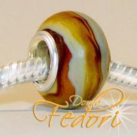Style Bead Brown Swirl