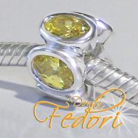 Style Bead Cristallo Biondo 925 Sterling Silber, Zirkonia