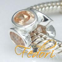 Style Bead Cristallo Castano 925 Sterling Silber, Zirkonia
