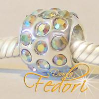 Style Bead Crystal Glitterflame 925 Sterling Silber, Zirkonia