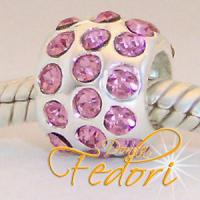 Style Bead Crystal pink Flame 925 Sterling Silber, Zirkonia