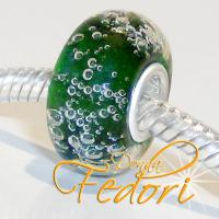 Style Bead Dark Green Bubbles