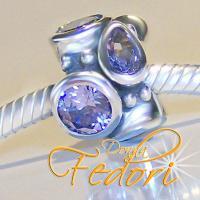 Style Bead Dark Lilac Pride 925 Sterling Silber, Zirkonia