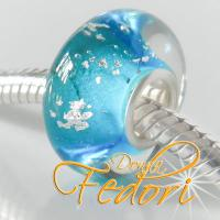 Style Bead Dazzling light blue Silver