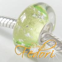 Style Bead Dazzling lime Silver