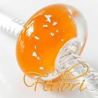 Style Bead Dazzling orange Silver