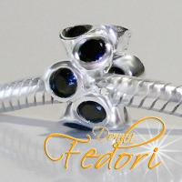 Style Bead Di Nero 925 Sterling Silber, Zirkonia