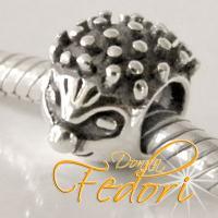 Style Bead Frecher Igel 925 Sterling Silber