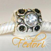 Style Bead Funky & Black 925 Sterling Silber, Zirkonia