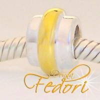 Style Bead Goldband 925 Sterling Silber
