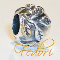 Style Bead Golden Leaf 925 Sterling Silber