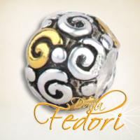 Style Bead Golden Turn 925 Sterling Silber