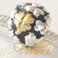 Style Bead Goldenes Glückskleeblatt 925 Sterling Silber