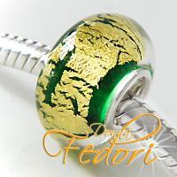 Style Bead Green Goldglow