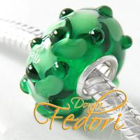 Style Bead Green Leaves
